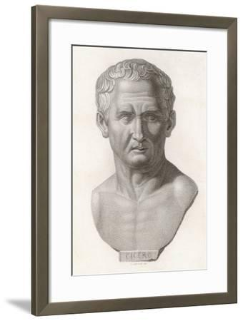 Marcus Tullius Cicero Roman Statesman and Orator--Framed Giclee Print
