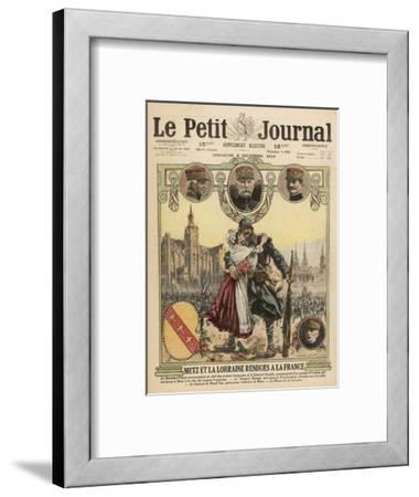Metz Returns to France--Framed Giclee Print