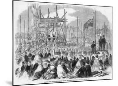 Laying the Foundation Stone of Spurgeon's Tabernacle--Mounted Giclee Print
