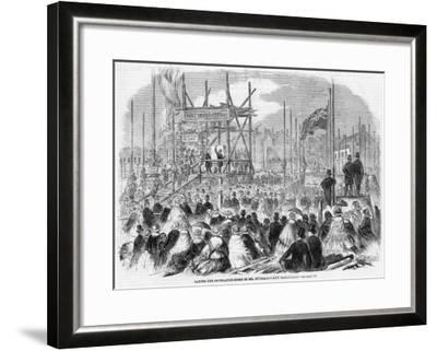 Laying the Foundation Stone of Spurgeon's Tabernacle--Framed Giclee Print