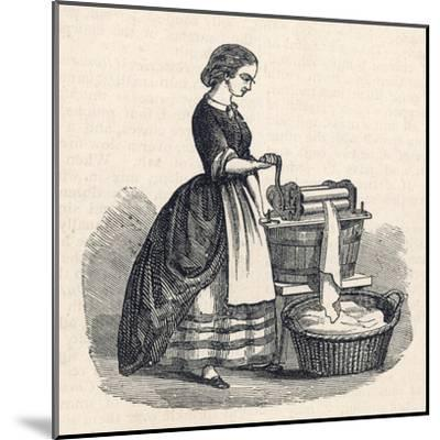 Mangling Machine--Mounted Giclee Print