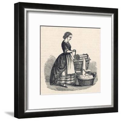 Mangling Machine--Framed Giclee Print