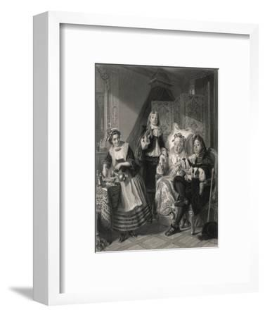 Le Malade Imaginaire' the Imaginary Invalid, His Doctors and His Maidservant--Framed Giclee Print