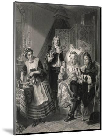Le Malade Imaginaire' the Imaginary Invalid, His Doctors and His Maidservant--Mounted Giclee Print