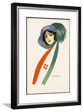 Patriotic Italian Girl--Framed Giclee Print