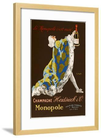 Monopole Champagne, Made by Heidsieck and Co--Framed Giclee Print