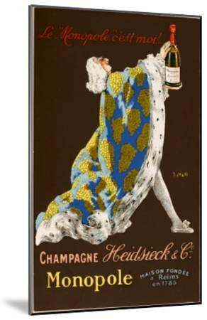 Monopole Champagne, Made by Heidsieck and Co--Mounted Giclee Print