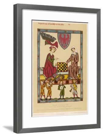 Otto IV, Margrave of Brandenburg, Depicted Playing Chess with His Wife Hedwig Von Holstein--Framed Giclee Print