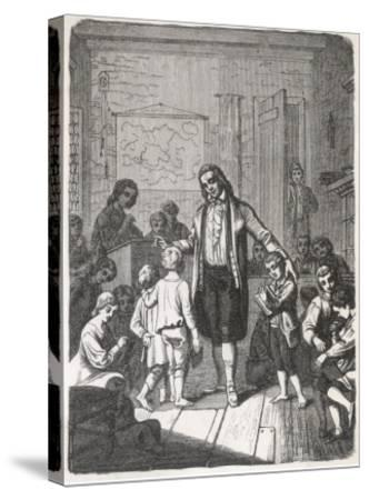 Pestalozzi's School--Stretched Canvas Print