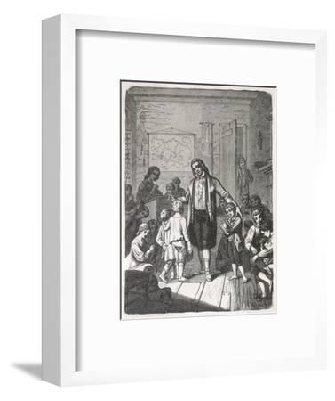 Pestalozzi's School--Framed Giclee Print