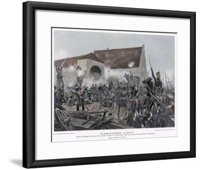 Napoleonic Wars the Fighting at La Haye-Sainte (Belle Alliance)--Framed Giclee Print
