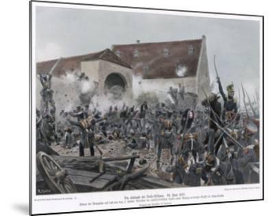 Napoleonic Wars the Fighting at La Haye-Sainte (Belle Alliance)--Mounted Giclee Print