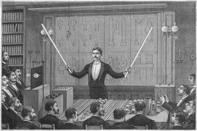 Nikola Tesla--Stretched Canvas Print