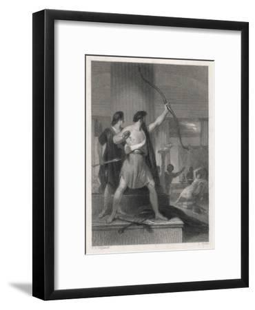 Odysseus and the Suitors--Framed Giclee Print