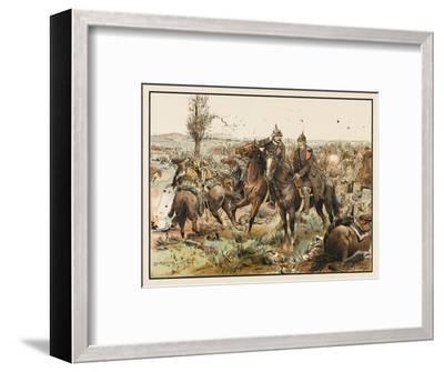 Otto Von Bismarck (1815 - 1898) Bismarck at the Battle of Koniggratz--Framed Giclee Print