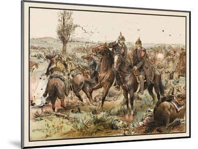 Otto Von Bismarck (1815 - 1898) Bismarck at the Battle of Koniggratz--Mounted Giclee Print