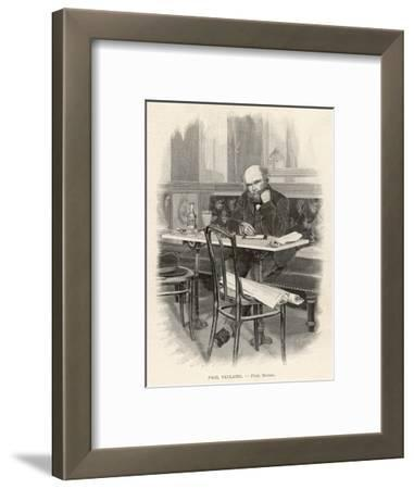 Paul Verlaine French Writer Writing at a Cafe Table--Framed Giclee Print
