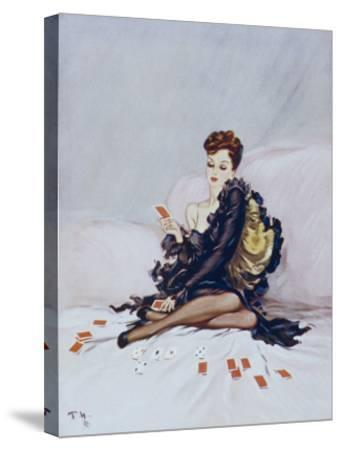 Patience-David Wright-Stretched Canvas Print