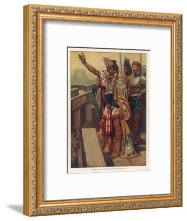 Montezuma's Address--Framed Giclee Print