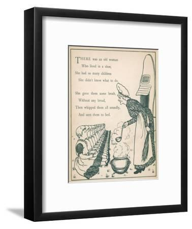 Old Woman Lived in Shoe--Framed Giclee Print