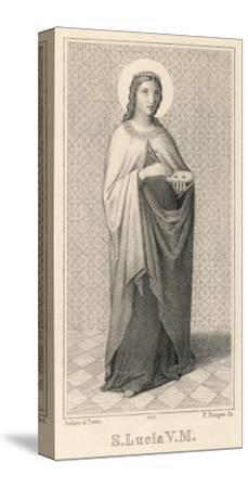 Santa Lucia Di Siragusa Sicilian Saint and Martyr--Stretched Canvas Print