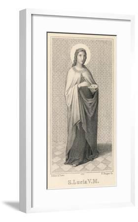 Santa Lucia Di Siragusa Sicilian Saint and Martyr--Framed Giclee Print