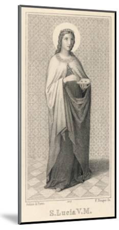 Santa Lucia Di Siragusa Sicilian Saint and Martyr--Mounted Giclee Print