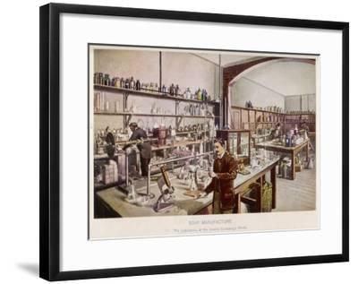 Soap Manufacture in the Laboratory at the Vinolia Company's Works--Framed Giclee Print