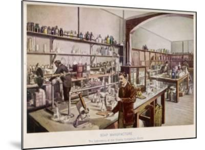 Soap Manufacture in the Laboratory at the Vinolia Company's Works--Mounted Giclee Print