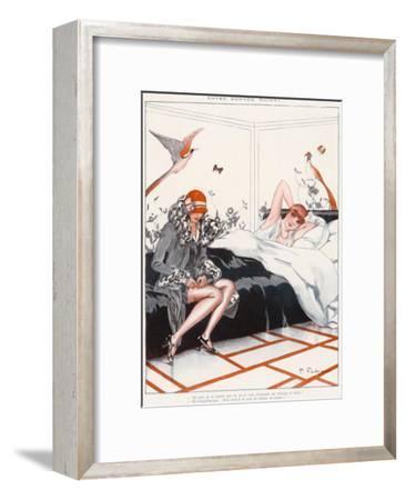 Stocking Adjustment--Framed Giclee Print