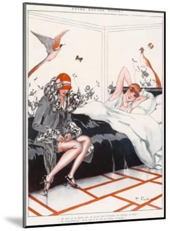 Stocking Adjustment--Mounted Giclee Print