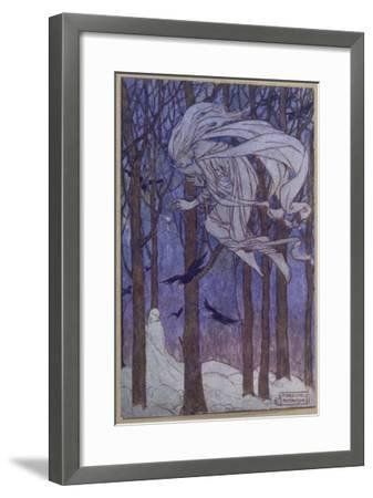 Snow Is Brought by the Fairy of the North Wind--Framed Giclee Print