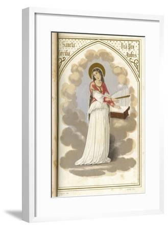 Saint Cecilia Virgin, Martyr and Musician--Framed Giclee Print