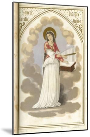 Saint Cecilia Virgin, Martyr and Musician--Mounted Giclee Print