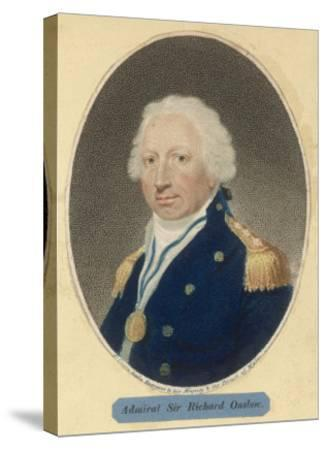 Sir Richard Onslow British Admiral of the Royal Navy--Stretched Canvas Print