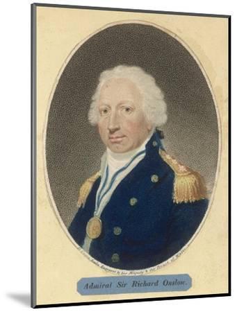 Sir Richard Onslow British Admiral of the Royal Navy--Mounted Giclee Print