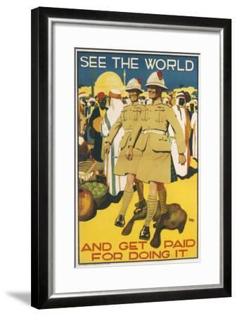 See the World - Poster--Framed Giclee Print
