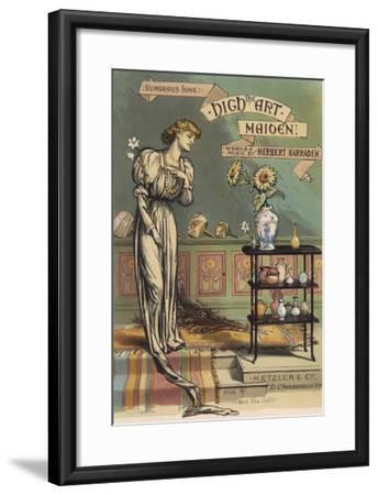 Satirical Depiction of the Late Victorian Aesthetic Type--Framed Giclee Print