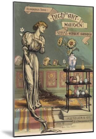 Satirical Depiction of the Late Victorian Aesthetic Type--Mounted Giclee Print