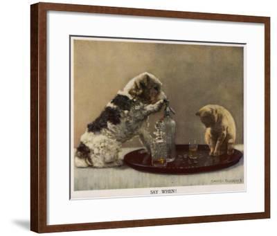 Say When - David Duggins--Framed Giclee Print