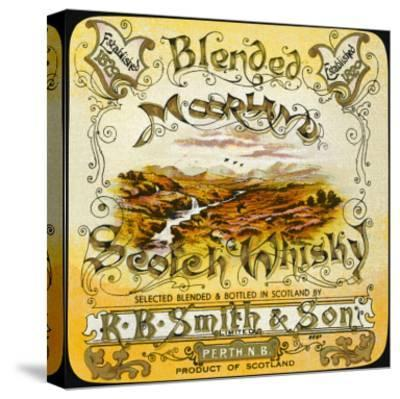 Smith's Moorland Blended Whiskey--Stretched Canvas Print