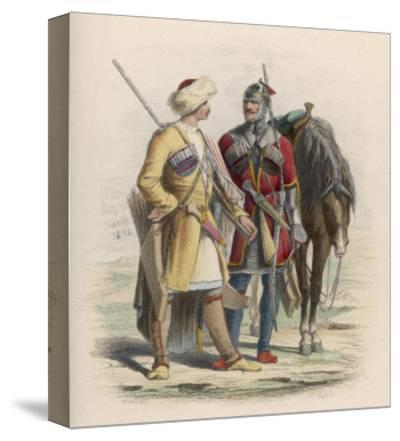 Russia - Two Circassian Soldiers--Stretched Canvas Print