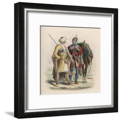 Russia - Two Circassian Soldiers--Framed Giclee Print