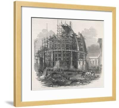 The Construction of the Reading Room at the British Museum--Framed Giclee Print
