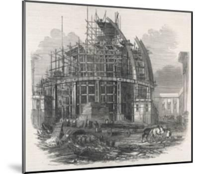 The Construction of the Reading Room at the British Museum--Mounted Giclee Print