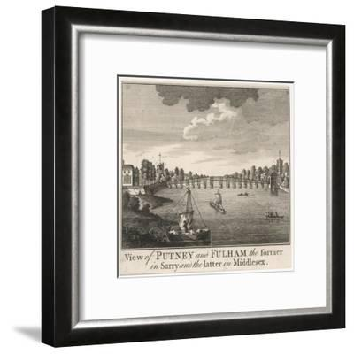 The Bridge Linking Fulham in Middlesex with Putney in Surrey--Framed Giclee Print