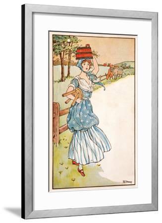 The Milk Maid's Morning--Framed Giclee Print