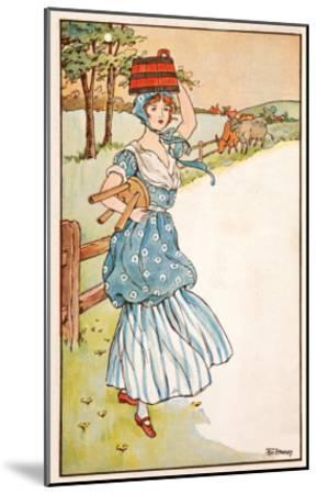 The Milk Maid's Morning--Mounted Giclee Print