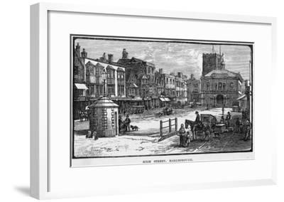 The High Street, Marlborough, Wiltshire--Framed Giclee Print