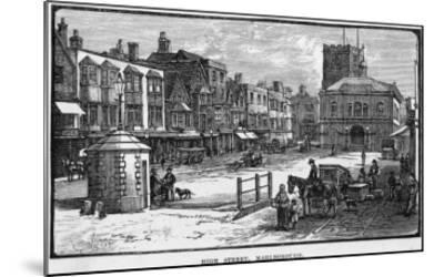 The High Street, Marlborough, Wiltshire--Mounted Giclee Print